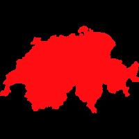 Umriss der Schweiz in 7 Farben