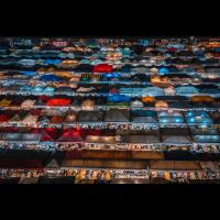 Bangkok Nachtmarkt Querformat
